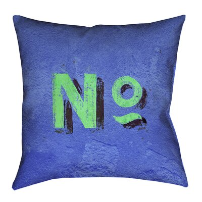 Enciso Graphic Wall Pillow Cover with Zipper Size: 18 x 18, Color: Blue/Green