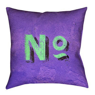 Enciso Graphic Wall Pillow Cover with Zipper Size: 18 x 18, Color: Purple/Green