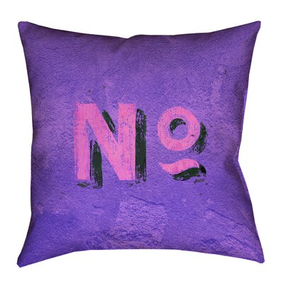 Enciso Graphic Wall Pillow Cover Size: 18 x 18, Color: Purple/Pink
