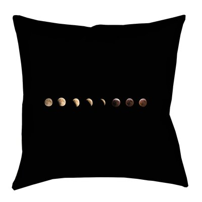 Shepparton Moon Phases Linen Throw Pillow Size: 16 x 16