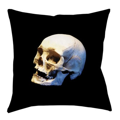 Mensa Skull Square Throw Pillow with Zipper Size: 16 x 16