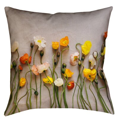 Tuyen Dried Flowers Double Sided Print 100% Cotton Throw Pillow Size: 14 x 14