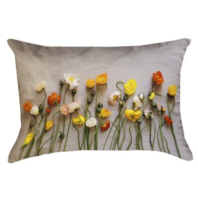 Tuyen Dried Flowers Double Sided Print 100% Cotton Lumbar Pillow