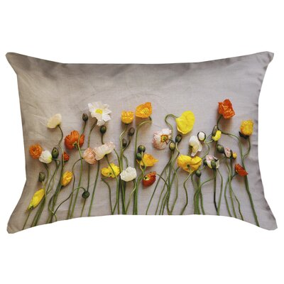 Tuyen Dried Flowers Double Sided Print 100% Cotton Lumbar Pillow Product Type: Pillow Cover