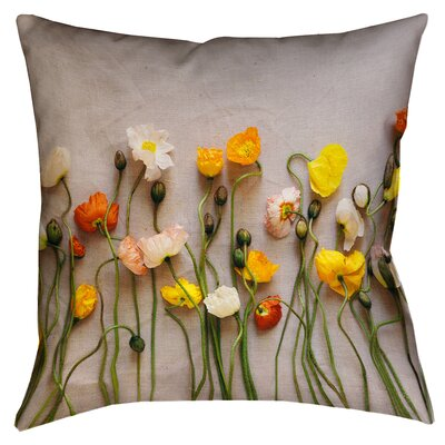 Tuyen Dried Flowers Double Sided Print Square Throw Pillow with Insert Size: 18 x 18