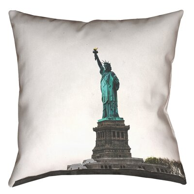 Statue of Liberty Double Sided Print Throw Pillow with Down Alternative Size: 14 x 14