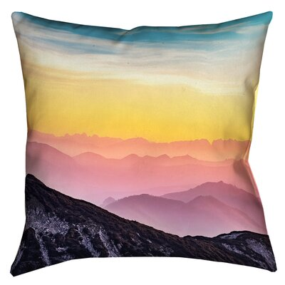 Thang Pastel Landscape Double Sided Print Square Pillow Cover Size: 14 x 14