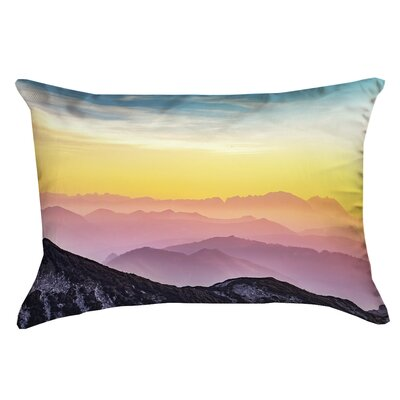 Thang Pastel Landscape Print Pillow Cover