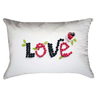 Buoi Love and Berries Linen Double Sided Print Lumbar Pillow