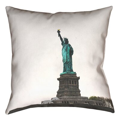 Statue of Liberty Double Sided Print Square 100% Cotton Pillow Cover Size: 20 x 20