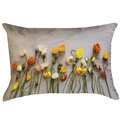 Tuyen Dried Flowers Outdoor Lumbar Pillow