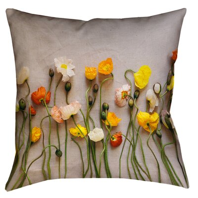 Tuyen Dried Flowers Square Outdoor Throw Pillow Size: 18 x 18