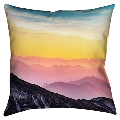 Thang Pastel Landscape Double Sided Print 100% Cotton Throw Pillow Size: 14 x 14