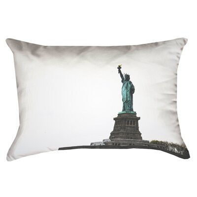 Statue of Liberty Double Sided Print Rectangular Pillow Cover in White