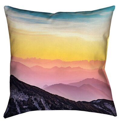 Thang Pastel Landscape Double Sided Print Square 100% Cotton Pillow Cover Size: 14 x 14