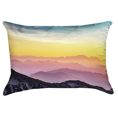 Thang Pastel Landscape Double Sided Print Rectangular Lumbar Pillow