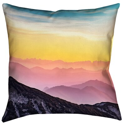 Thang Pastel Mountain Landscape Double Sided Print Square Pillow Cover Size: 20 x 20