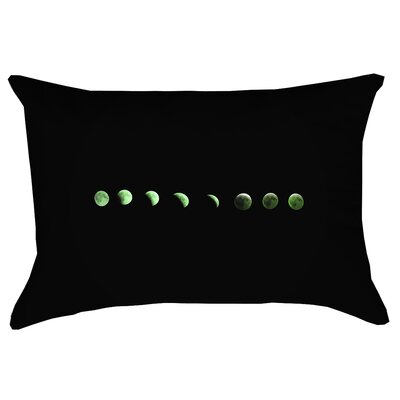 Enciso Moon Phase Rectangular Double Sided Print Lumbar Pillow Color: Green