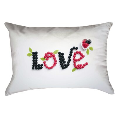 Buoi Love and Berries Double Sided Print Indoor Lumbar Pillow