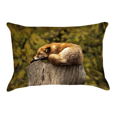 Sleeping Fox Linen Pillow Cover