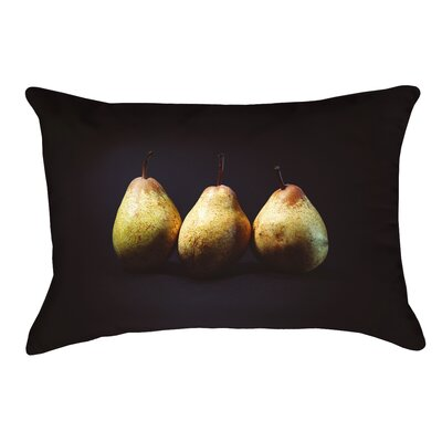 Pears Double Sided Print Lumbar Pillow