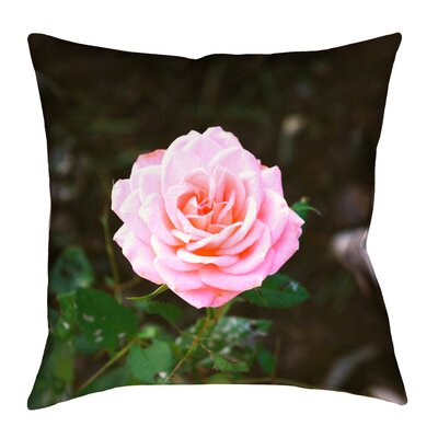 Rose Linen Throw Pillow Size: 14 x 14