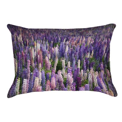 Joyeta Lavender Field Outdoor Lumbar Pillow
