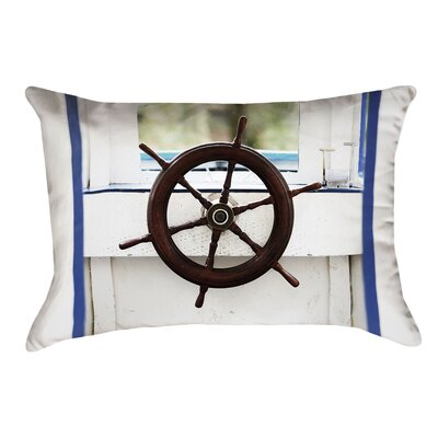 Anwar Boat Wheel Double Sided Lumbar Pillow Type: Lumbar Pillow, Material: Suede