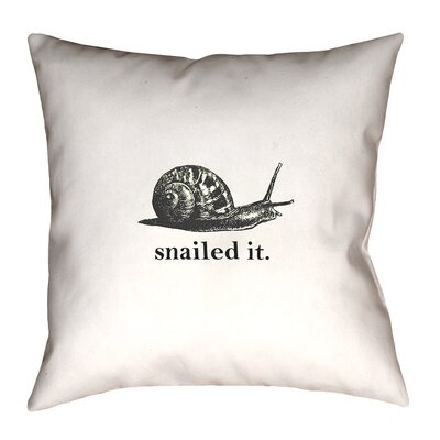 Katelyn Smith Snailed It Double Sided Print Throw Pillow Size: 14 x 14, Type: Throw Pillow, Material: Linen