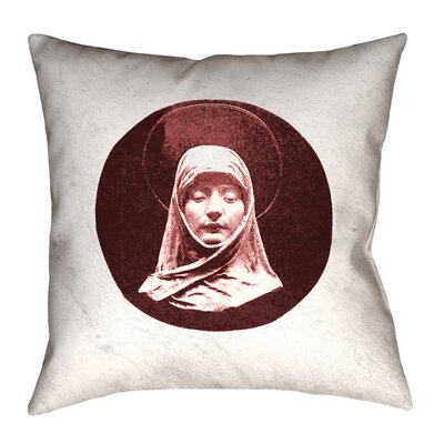 Carpenter Vintage Prayer Woman Floor Pillow Size: 36 x 36