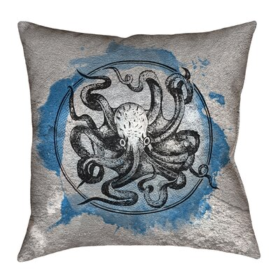 Carpenter Vintage Octopus Floor Pillow Size: 40 x 40, Color: Blue