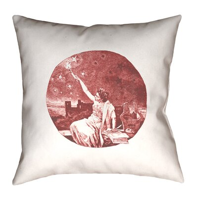 Enciso Blue Vintage Goddess Throwr Pillow Size: 20 x 20, Color: Red