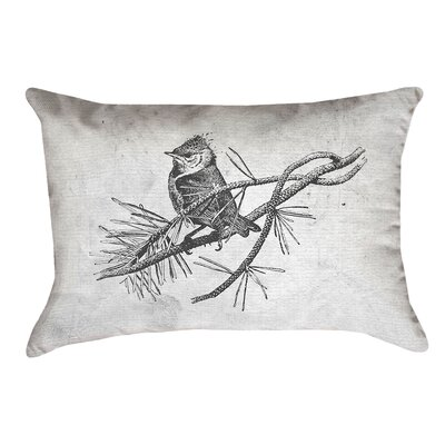 Venezia Vintage Bird Double Sided Throw Pillow