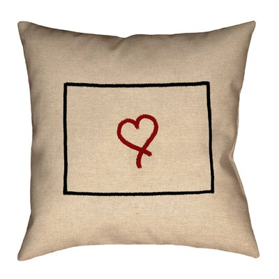 Austrinus Colorado Love Outline Pillow