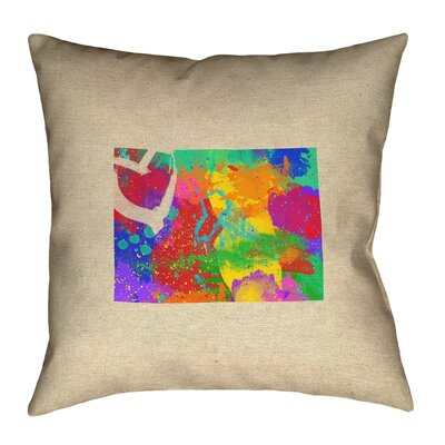 Austrinus Colorado Love Watercolor Pillow