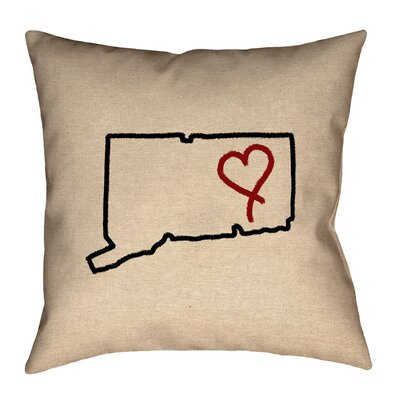 Austrinus Connecticut Love Outline Pillow