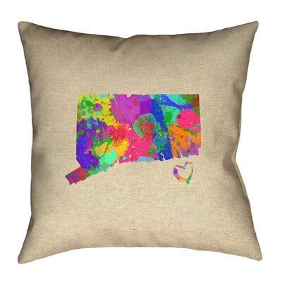 Austrinus Connecticut Love Watercolor Pillow