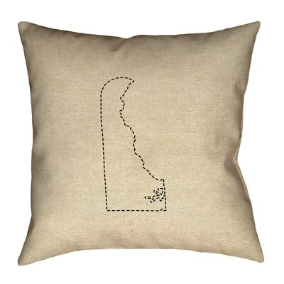 Austrinus Delaware Dash Outline Pillow