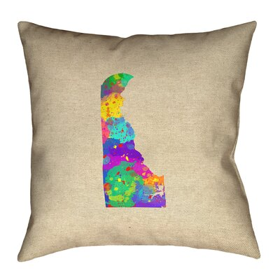 Austrinus Delaware Watercolor Pillow