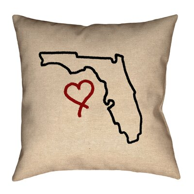 Austrinus Florida Love Outline Pillow