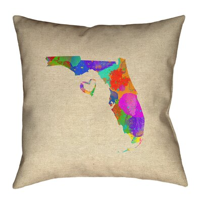 Austrinus Florida Love Watercolor Pillow