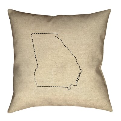 Austrinus Georgia Dash Outline Pillow