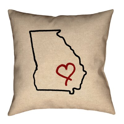 Austrinus Georgia Love Outline Pillow