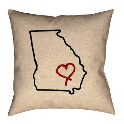 Austrinus Georgia Love Outline Pillow