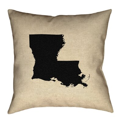 Austrinus Louisiana Square Outdoor Throw Pillow Size: 16 x 16, Color: Black