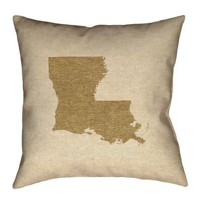 Austrinus Louisiana Square Outdoor Throw Pillow Size: 18 x 18, Color: Brown