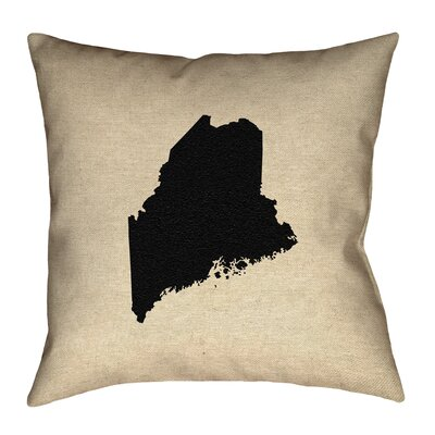 Austrinus Maine No Zipper Outdoor Throw Pillow Size: 16 x 16, Color: Black