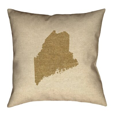 Austrinus Maine No Zipper Outdoor Throw Pillow Size: 16 x 16, Color: Brown