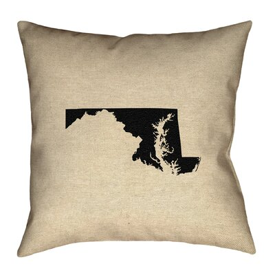 Austrinus Maryland Throw Pillow Size: 14 x 14