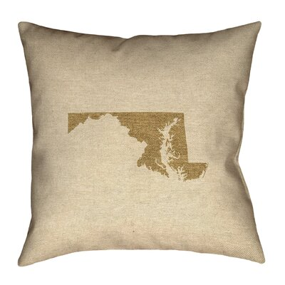 Austrinus Maryland Square Outdoor Throw Pillow Size: 16 x 16, Color: Brown